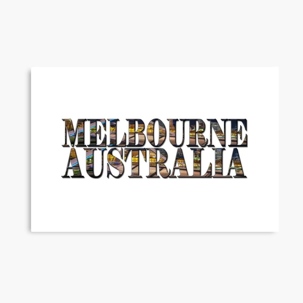 Melbourne Australia (on white) Canvas Print