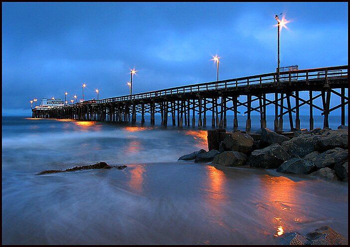 Quot Newport Beach Pier 1 Quot By Mick Gow Redbubble