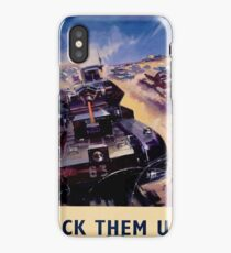 WW2 Propaganda Poster Reproduction - Back Them Up! iPhone Case/Skin