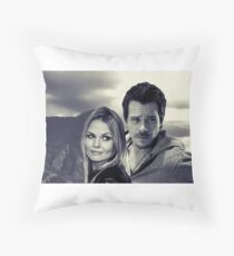 Swanfire in the Mountains  Throw Pillow
