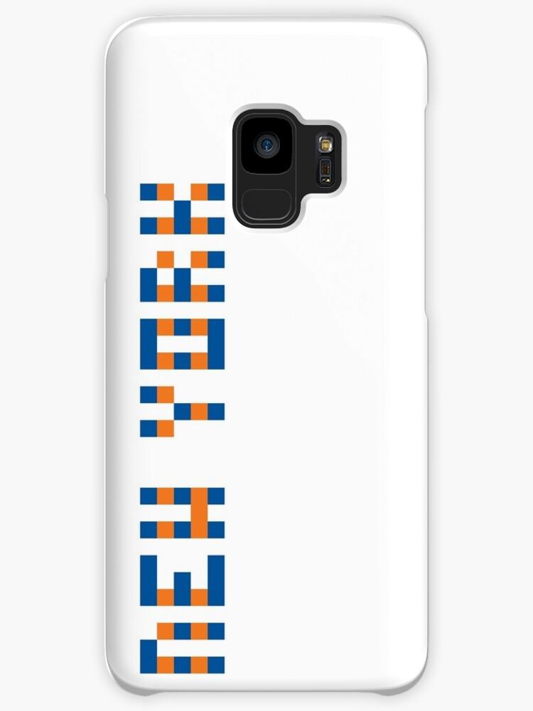 Pixel NHL New York in Away Colors (Blue Orange) by gkillerb