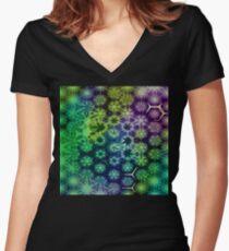 Vernal Metamorphosis 10 Women's Fitted V-Neck T-Shirt