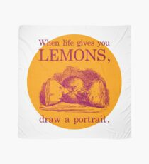 When Life Gives You Lemons, Draw A Portrait Scarf
