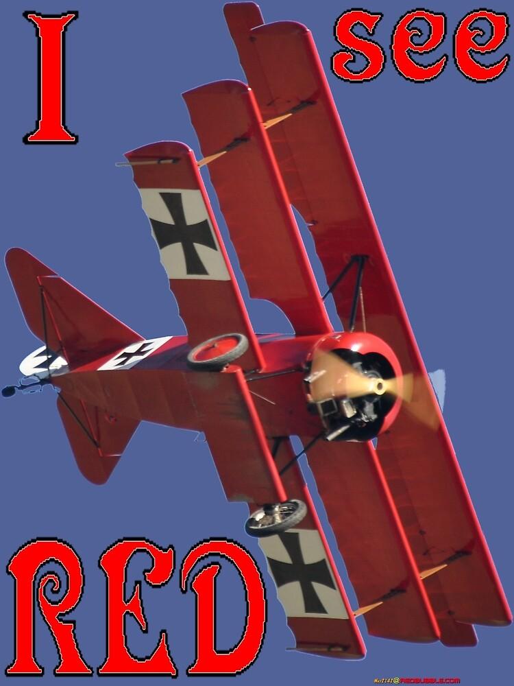 I See Red- Fokker Triplane Red Baron Design by muz2142