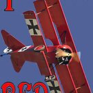 I See Red- Fokker Triplane Red Baron Design by muz2142