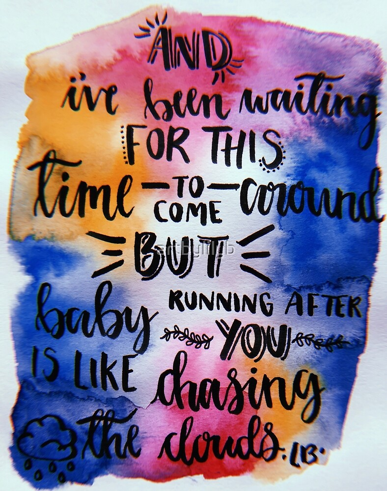 One Direction Lyric Art by artbylilyb