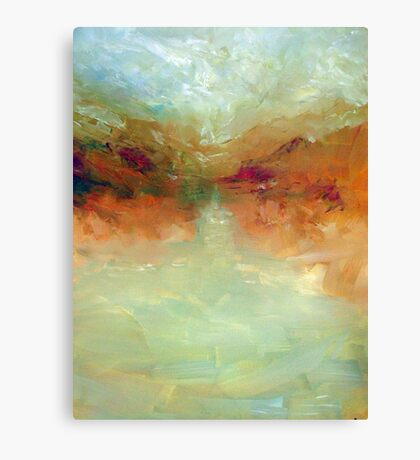 Lake: Abstract landscape Canvas Print