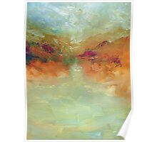 Lake: Abstract landscape Poster