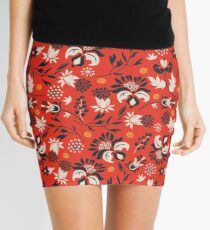 Victorian floral | red Mini Skirt