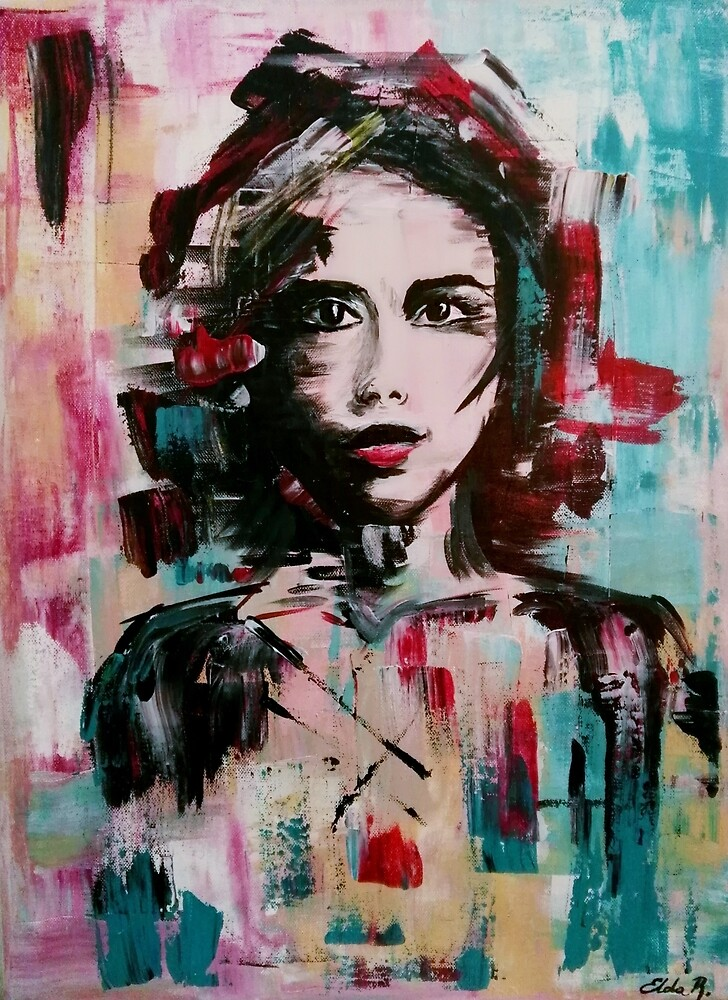 Abstract portrait  by Art-by-elda