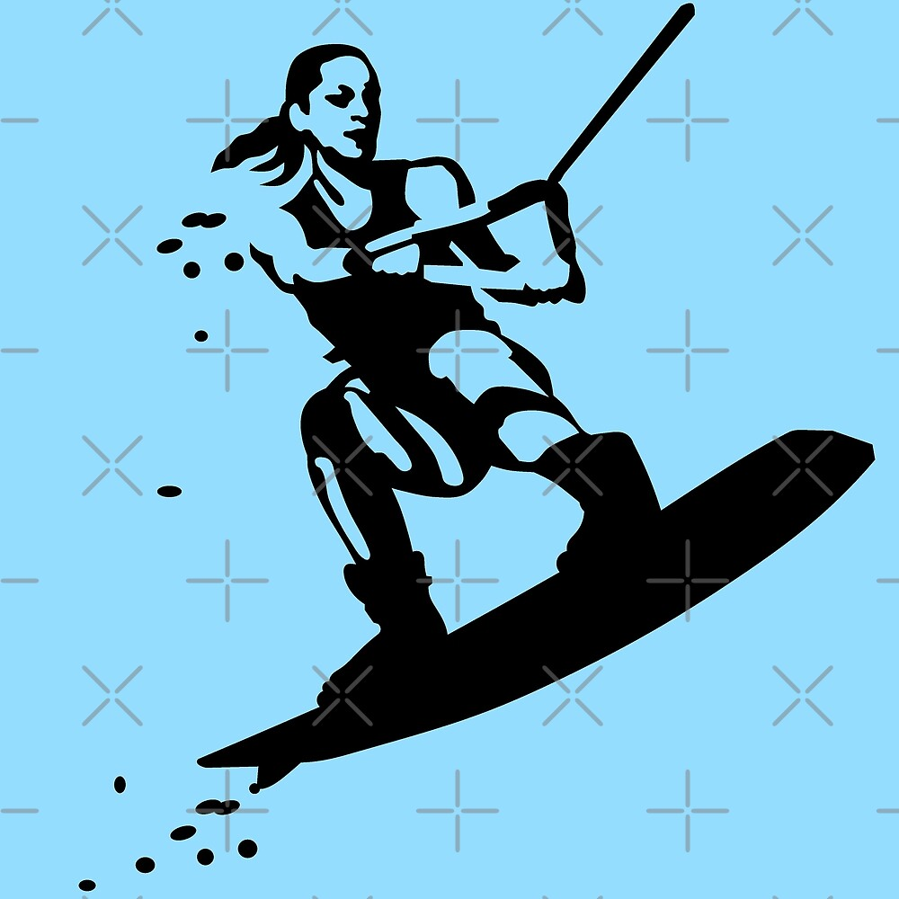 Wakeboarding by Sibo Miller