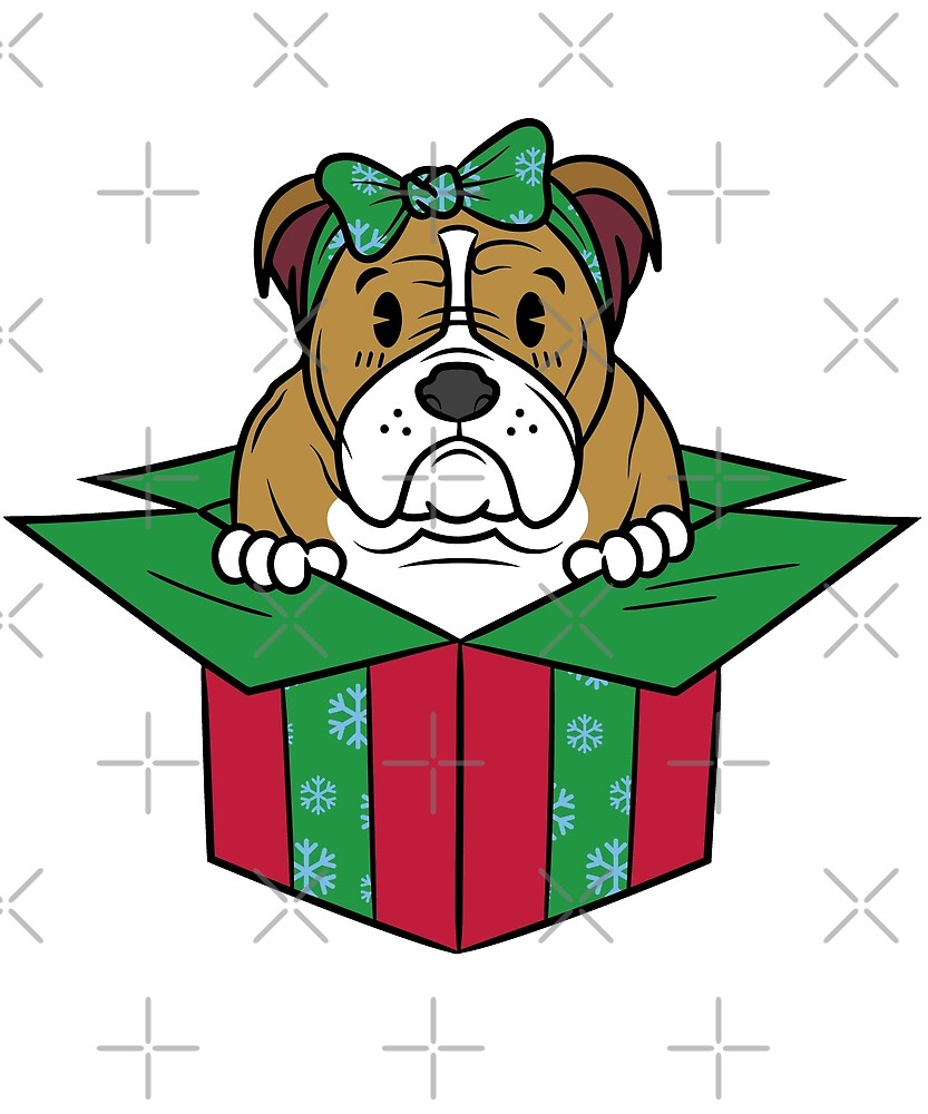Funny English Bulldog Xmas Present Christmas by ilovepaws