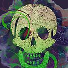 Decorative skull distressed difference by Anteia