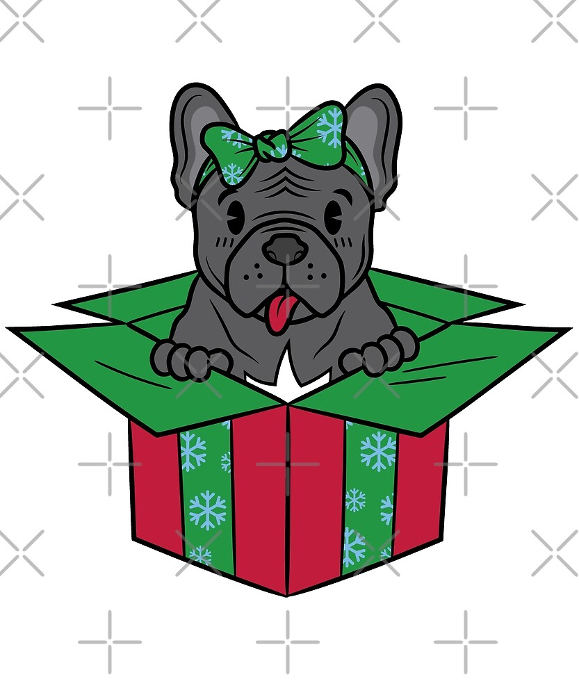 Funny French Bulldog Xmas Present Christmas by ilovepaws