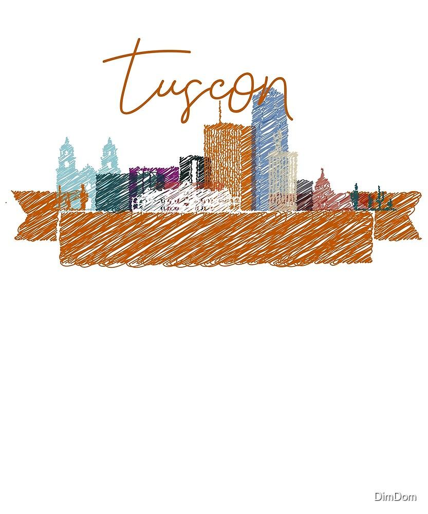 Cool Tucson skyline design  by DimDom
