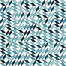 Abstract pattern with deformed and colored square by swisscreation