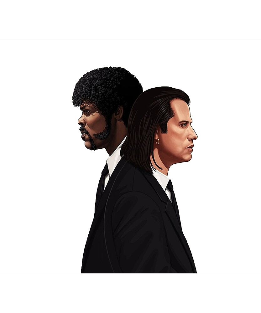 Pulp Fiction Movie Tee - Vincent & Jules by Rogersdesign