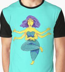 Yoga Alien Graphic T-Shirt