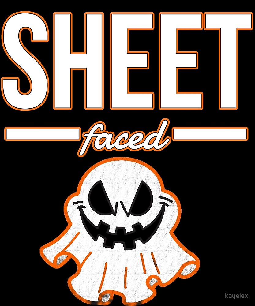 Sheet Faced Halloween Design Funny Costume Image by kayelex