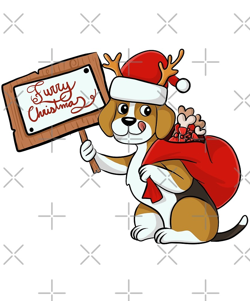 Funny Beagle Furry Xmas Sign Christmas by ilovepaws