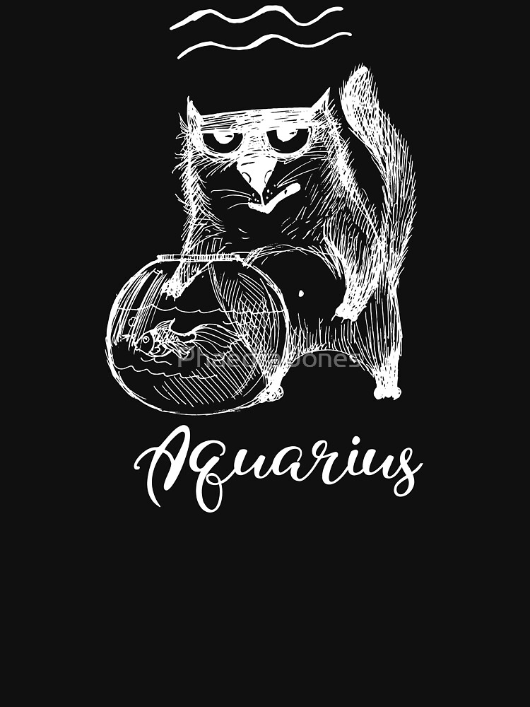 Funny Aquarius Cat Zodiac February Unisex Shirt Birthday Gift by Top10Merch