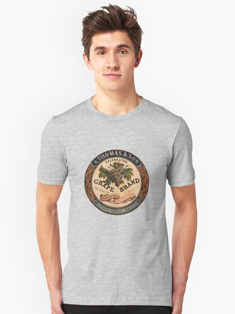 Tobacco Tin Distressed Vintage Chewing Tobacco Shirt Unisex T-Shirt Front