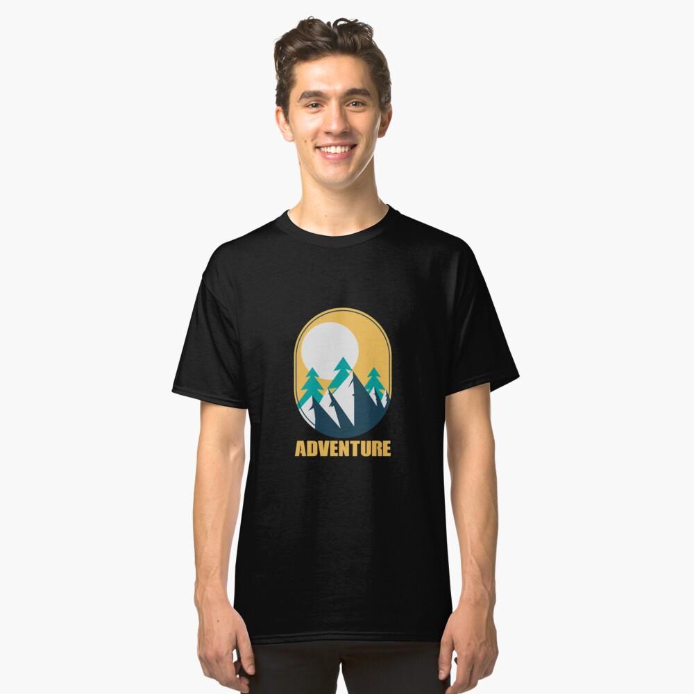 Outdoor Adventure Trees Mountain Sunshine - Gift Idea Classic T-Shirt Front