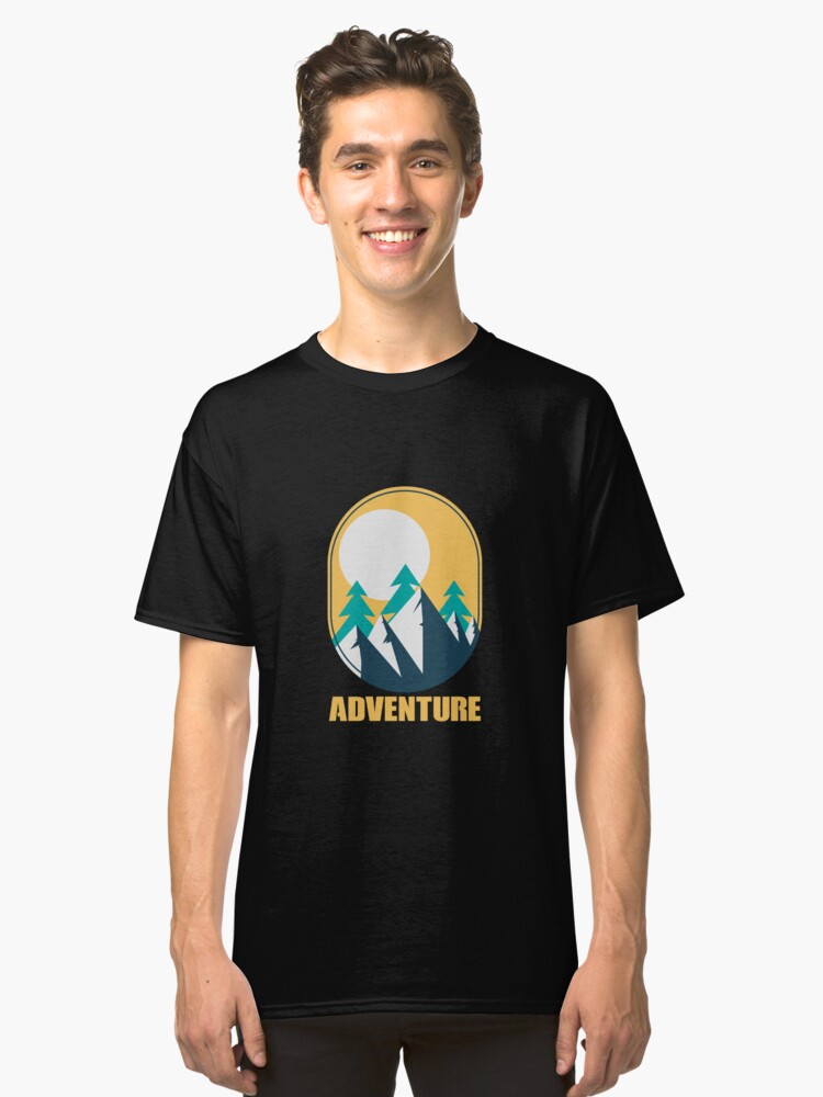Outdoor Adventure Trees Mountain Sunshine - Gift Idea Classic T-Shirt Front