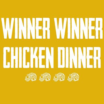 Winner Winner Chicken Dinner - PUBG Level 3 Helmet by itsmwaura