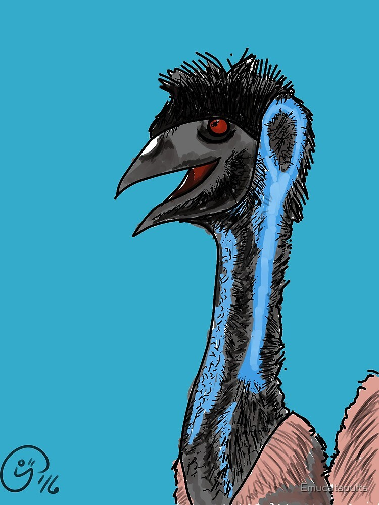 The Friendly Blue Emu by Emucatapults