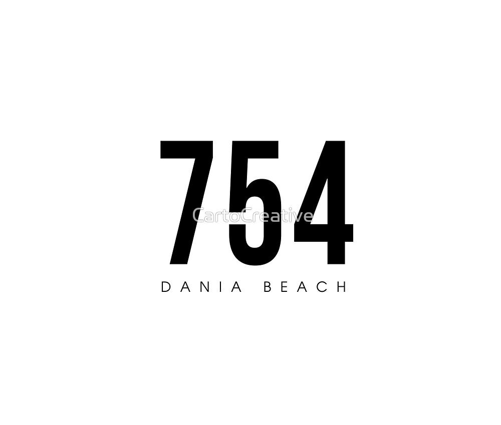 Dania Beach, FL - 754 Area Code design by CartoCreative