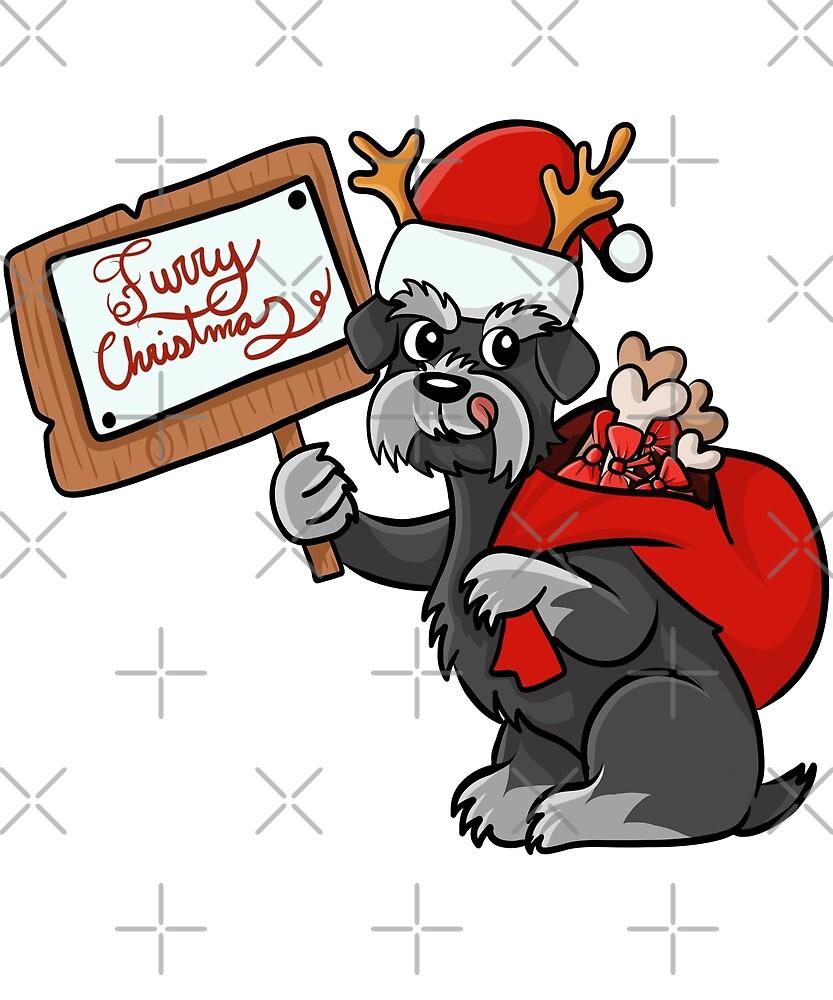 Funny Dachshund Furry Xmas Sign Christmas by ilovepaws