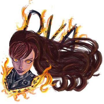 Fire girl by retinascrew