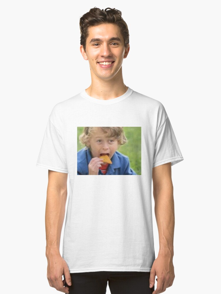 Wyatt Oleff eating doritos Classic T-Shirt Front