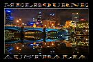 Reflective City (widescreen poster edition on black) by Ray Warren