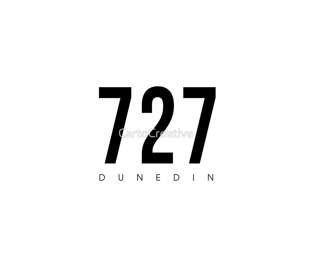 Dunedin, FL - 727 Area Code design by CartoCreative