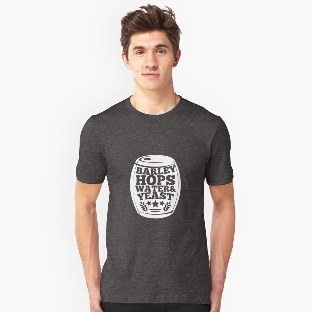 Brewmaster Shirt Barley Hops Water Yeast Homebrewing Tee Unisex T-Shirt Front
