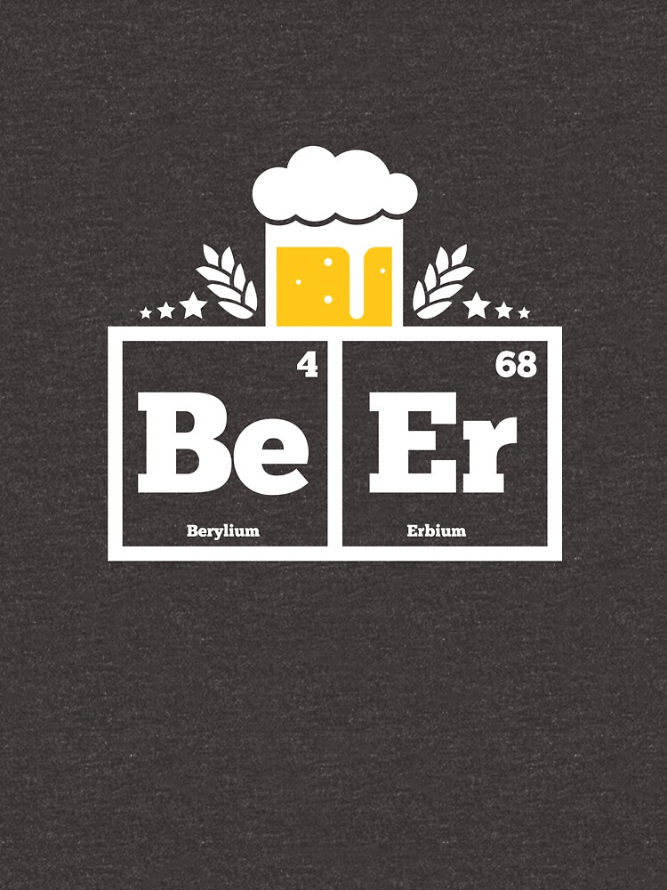 Brewmaster Shirt Periodic Table Elements Beer Science Tee by artbyanave