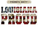 Louisiana stolz fördern Einheit Stolzes starkes ehrfürchtiges Entwurfs-Geschenk von djpraxis