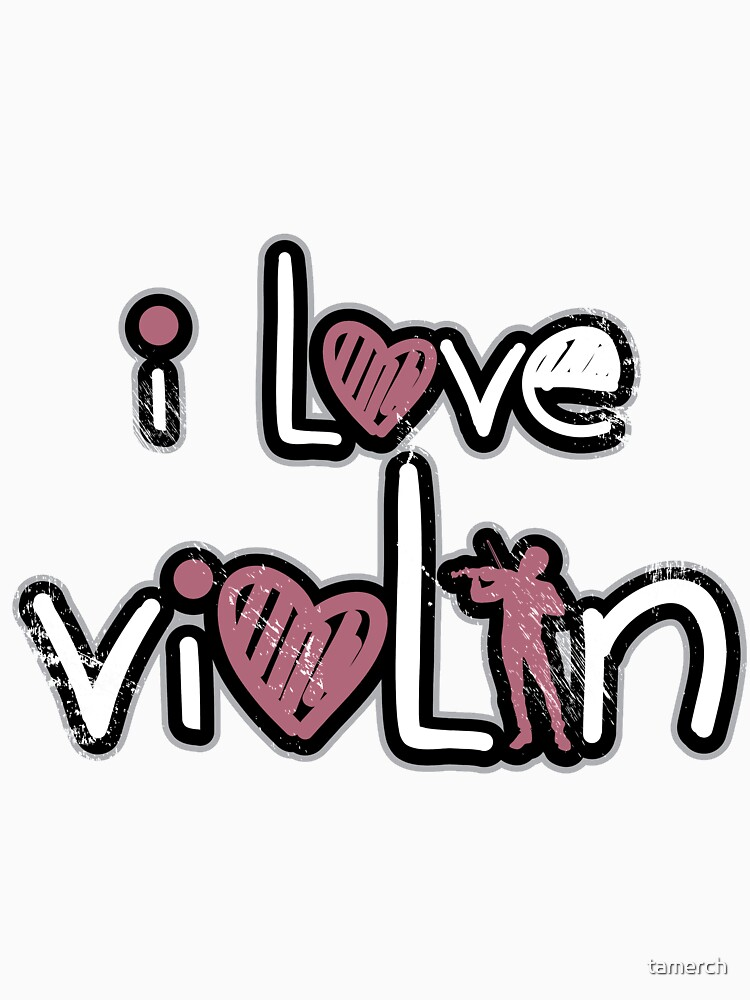 I love violin playing kids gift by tamerch