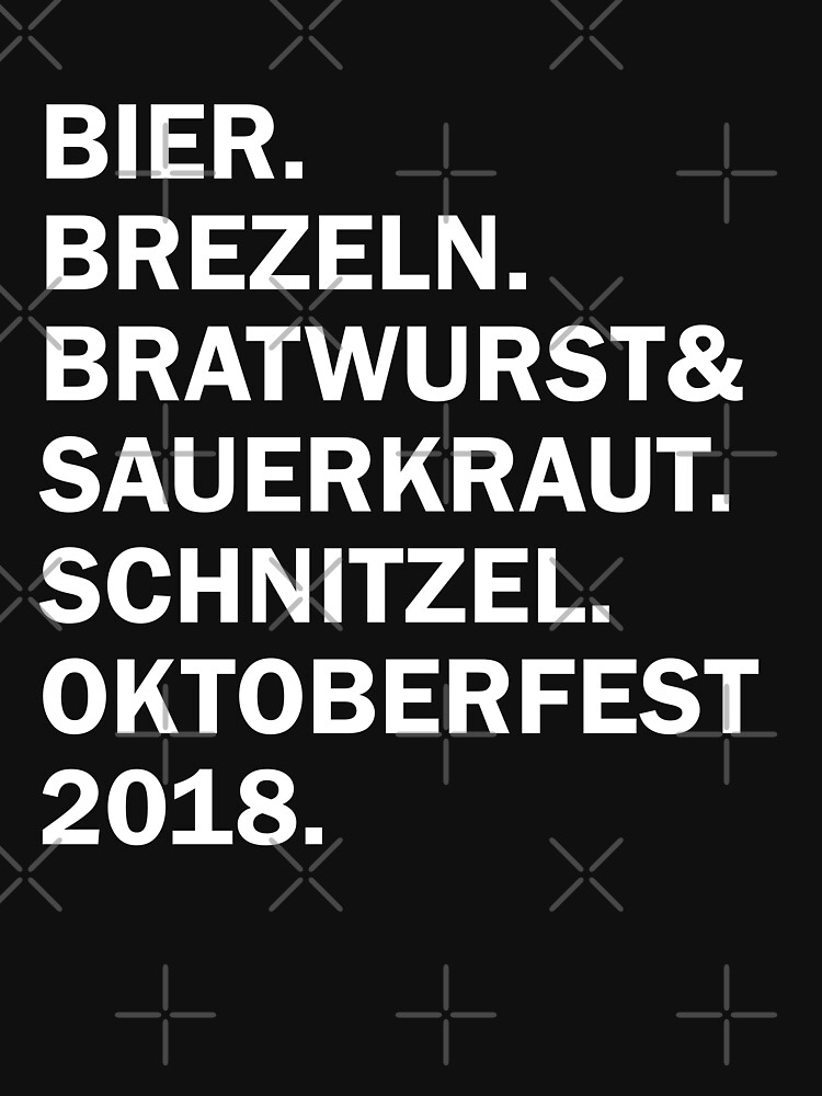 Bier, Brezeln, Bratwurst und Sauerkraut Shirt Funny Oktoberfest Shirt Gift by LuckyU-Design