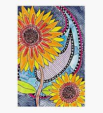 Santana's Sunflowers Photographic Print