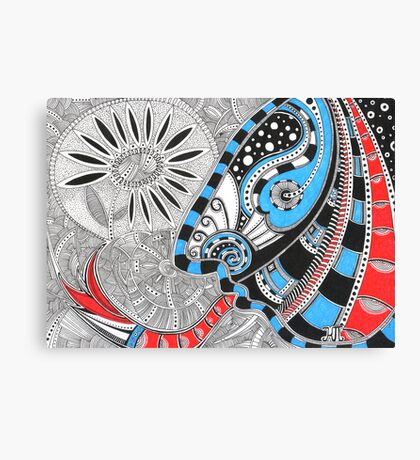 The Indian with tongue-snake Canvas Print