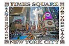 Times Square Traffic (poster edition on white) by Ray Warren