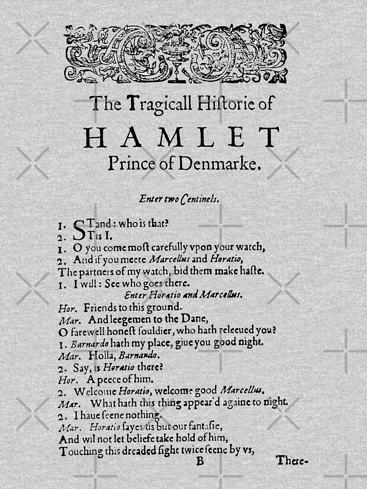 Hamlet William Shakespeare First Page by buythebook86