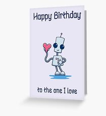 Ned's Heart Birthday Card Greeting Card