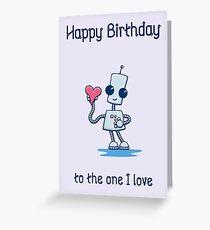 Ned's Heart Birthday Card Greeting Card