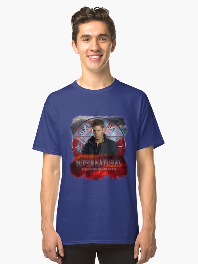 Supernatural Dean Winchester 3 Classic T-Shirt Front