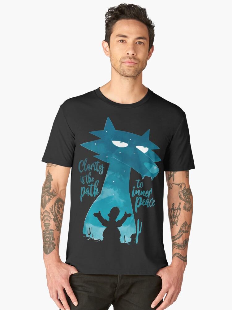 Space Coyote Men's Premium T-Shirt Front