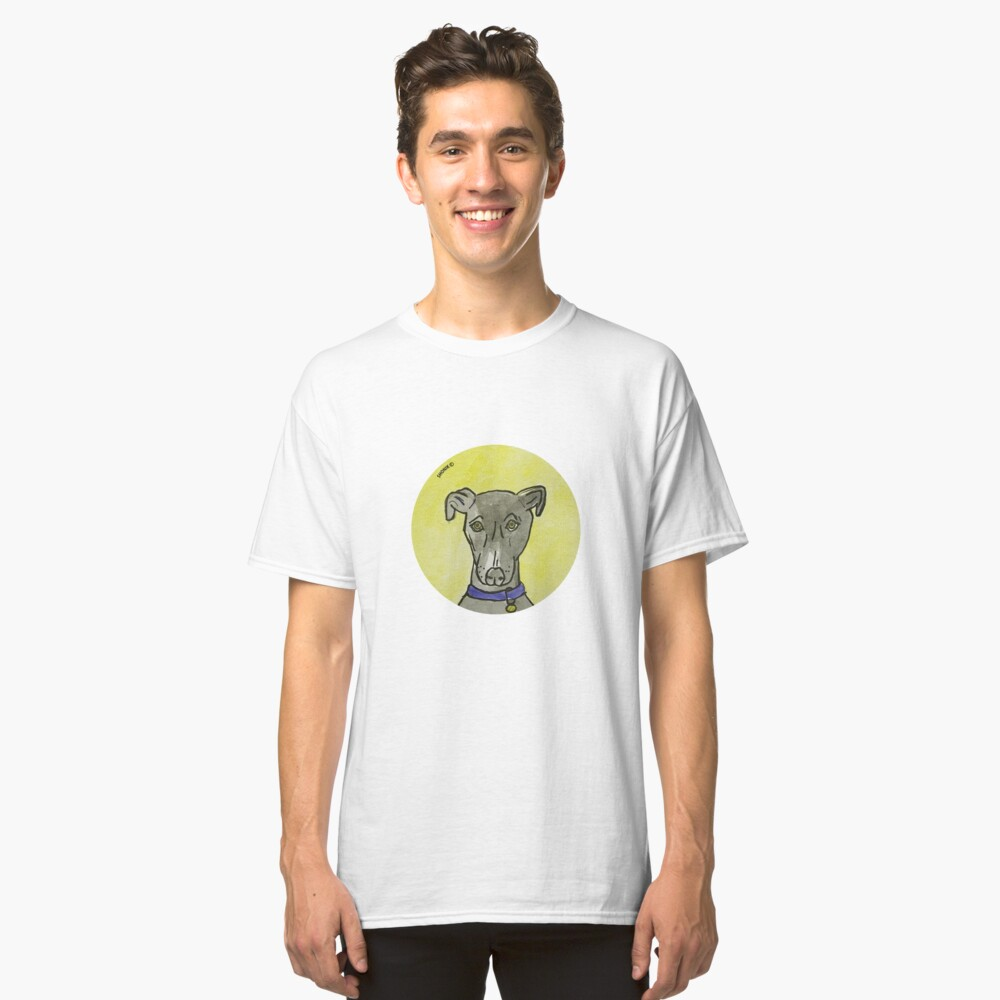 My black dog  Classic T-Shirt Front